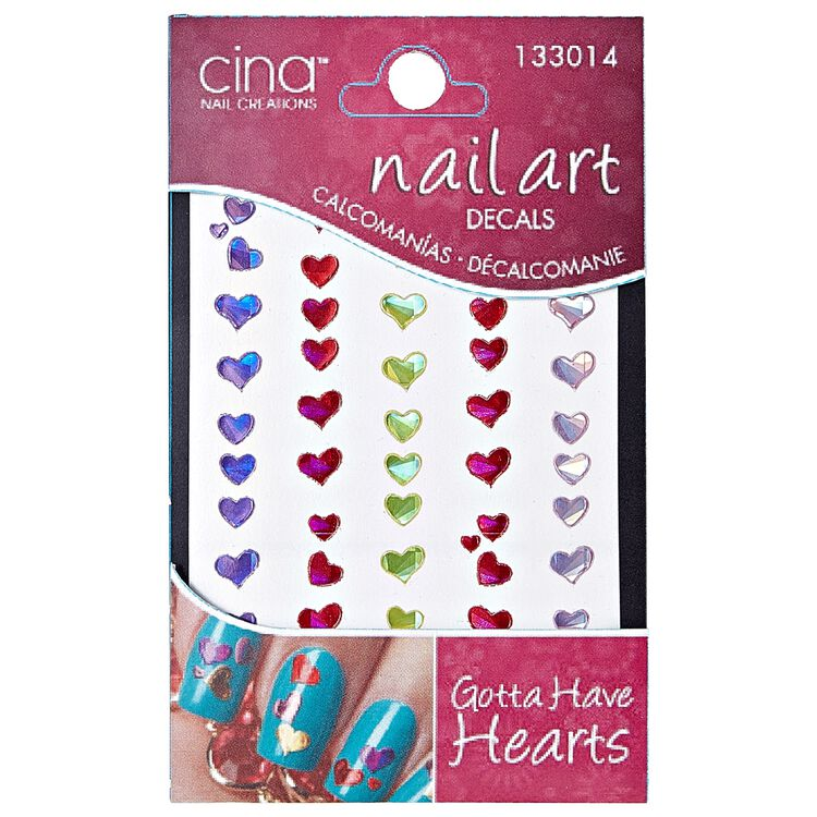 Cina Nail Creations Art Jewelry Decals Gotta Have Hearts Nail Art Design Sally Beauty