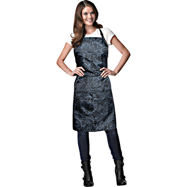 Black Damask Stylist Apron