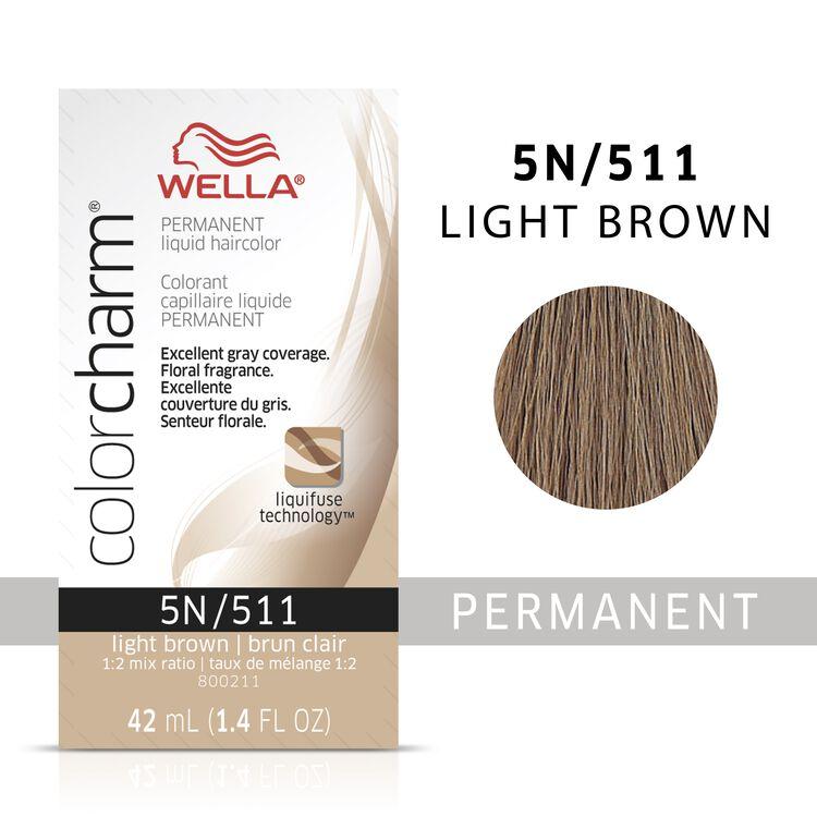 Light Brown Color Charm Liquid Permanent Hair Color