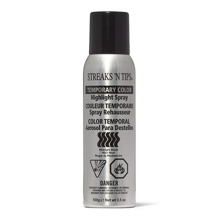 Midnite Black Temporary Color Highlight Spray