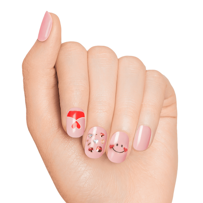 Expressions In a Heartbeat 3D Nail Art Sticker