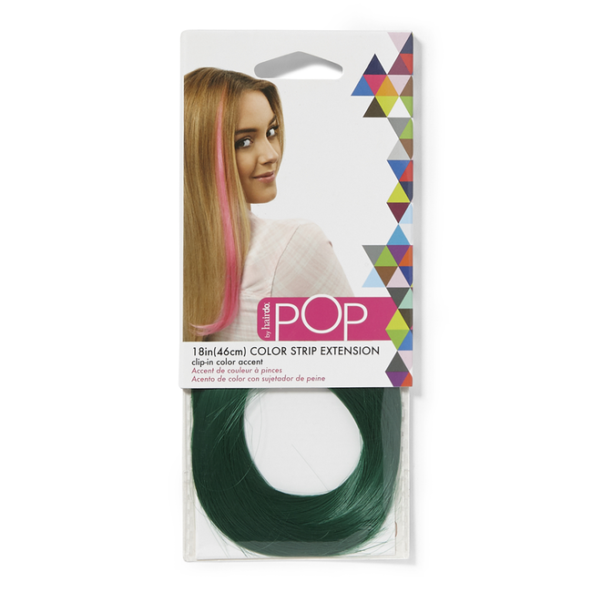 Color Strip Extension Party Dress Green