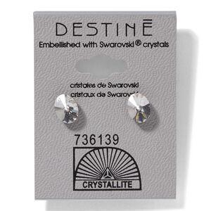 Crystal Oval Rivoli Earrings