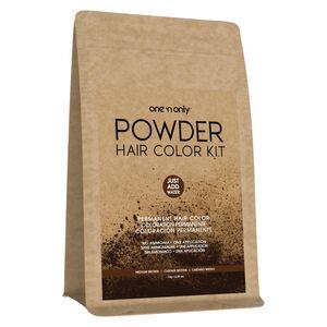 Powder Permanent Hair Color Kit Medium Brown