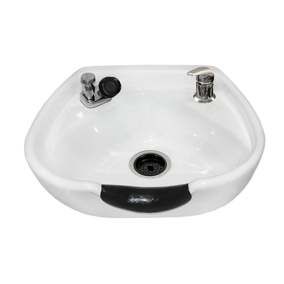 White 8100 Stationary Porcelain Shampoo Bowl