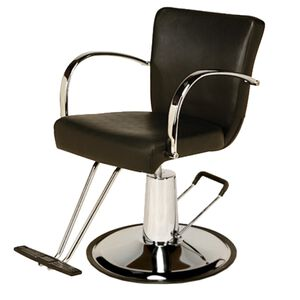 AR-D002-B Emily Styling Chair Black with Round Base