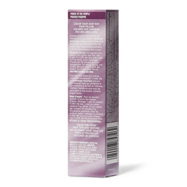 FLARE Me Light Permanent Cream Hair Color Power to the Purple