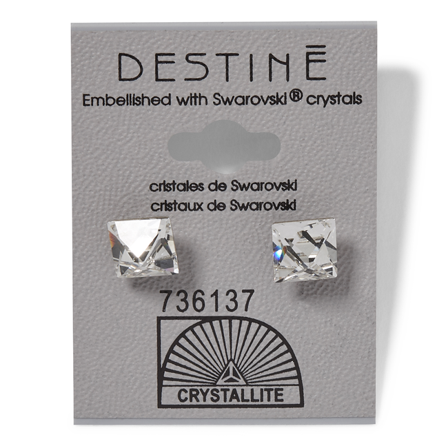 Crystal Pointed Square Earring