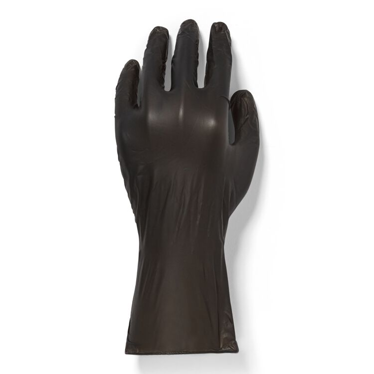 100 Count Black Vinyl Gloves-Small
