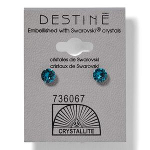 Destine Blue Zicon Diamond Cut Earrings