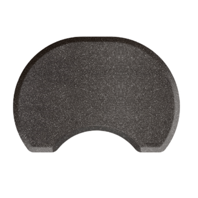 Granite Steel Round Mat with Chair Depression