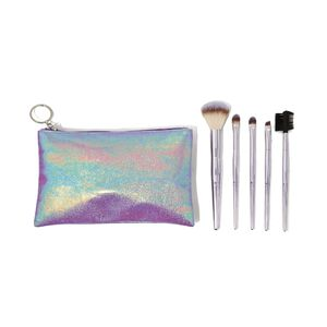 5 Piece Travel Cosmetic Brush Set