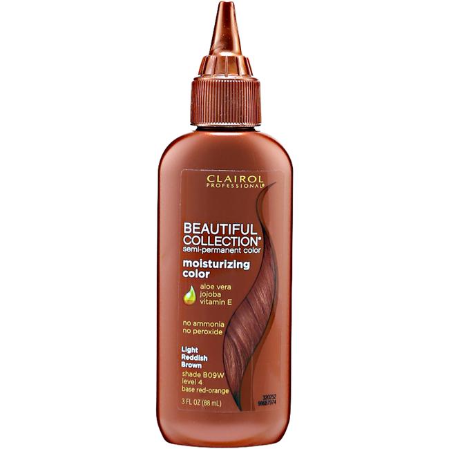 09W Light Reddish Brown Moisturizing Semi Permanent Hair Color