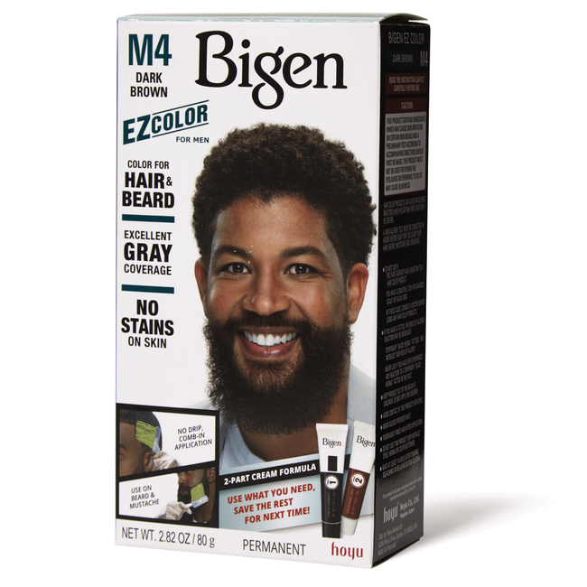 Men's EZ Permanent Hair Color M4 Dark Brown