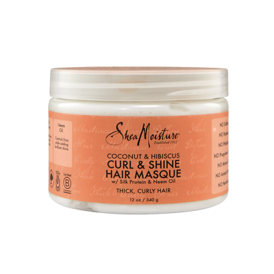 Coconut & Hibiscus Curl and Shine Hair Masque