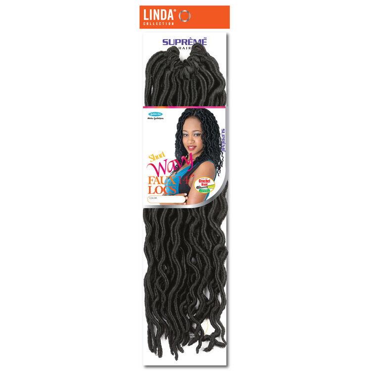 Goddess Wavy Faux Locs 14 Inch Crochet Hair Jet Black