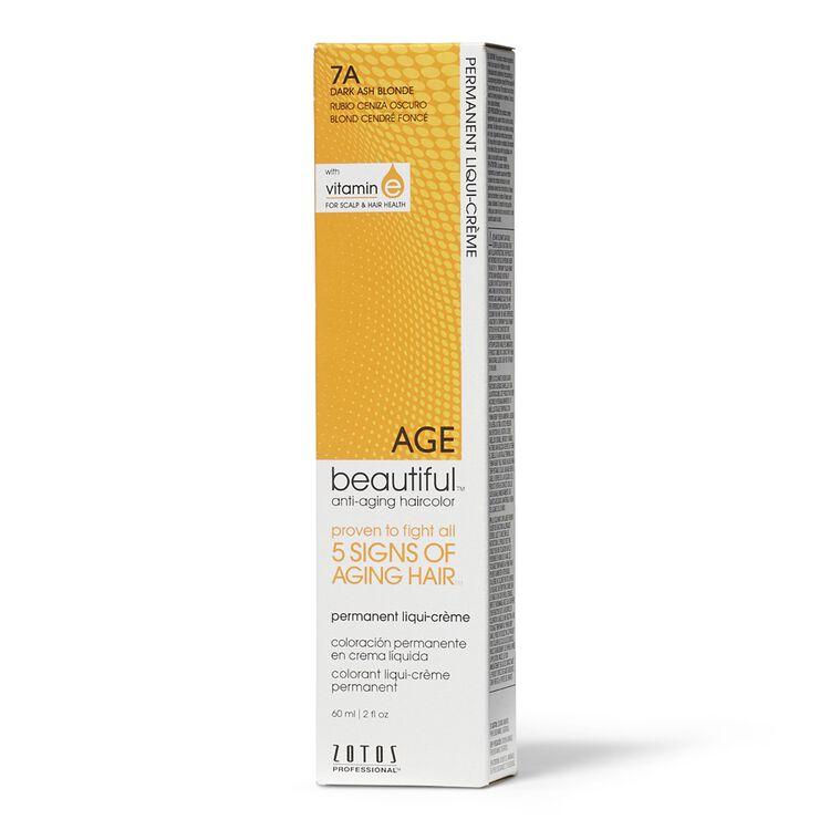 7A Dark Ash Blonde Permanent Liqui-Creme Hair Color