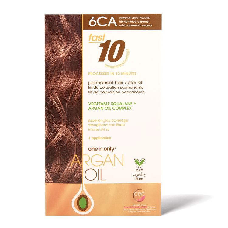 Fast 10 Permanent Hair Color Kit 6CA Caramel Dark Blonde