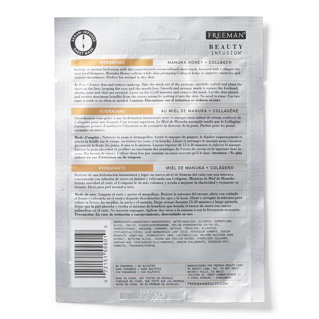 Hydrating Manuka Honey & Collagen Sheet Mask