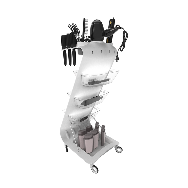 Zeta Hair Trolley White