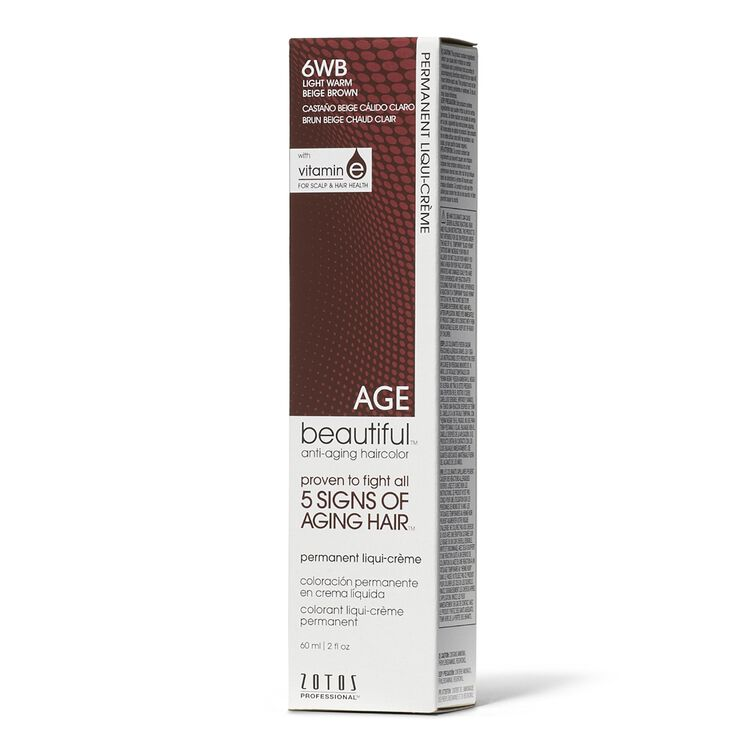 6WB Light Warm Beige Brown Liqui-Permanent Haircolor