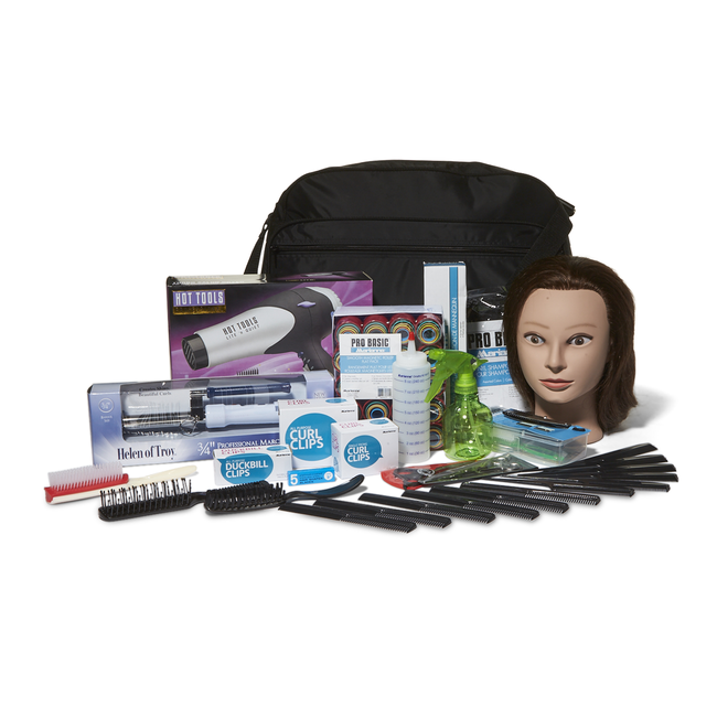 Soft Side Complete Beauty School Kit With Hairdryer