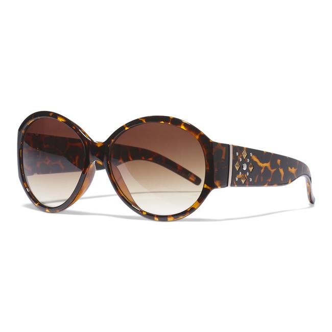 Opaque Round Black Sunglasses