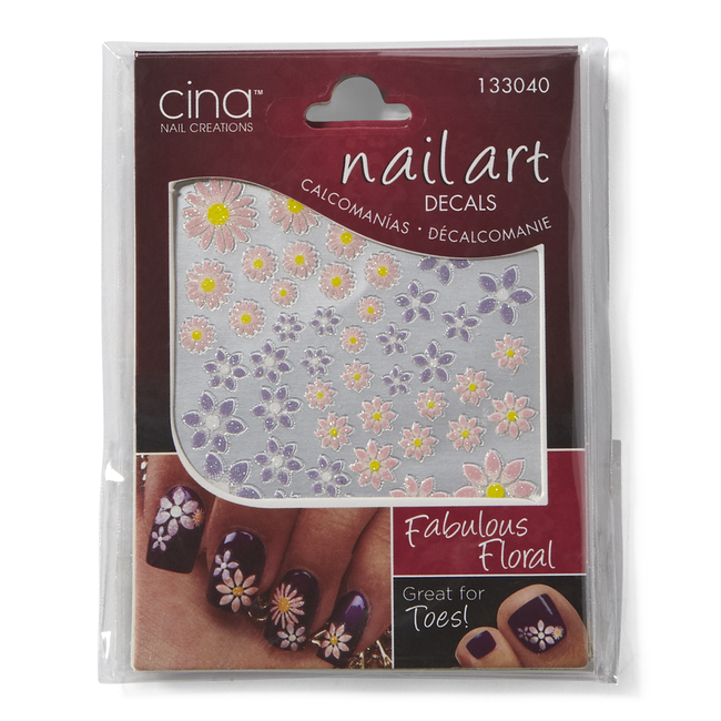 Fabulous Floral 3-D Nail Art Decals