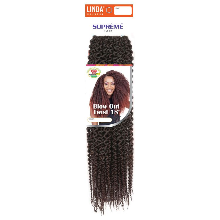 Ombre Black/Dark Auburn Blowout Twist 18 Inch Crochet Hair