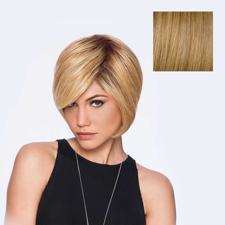 Layered Bob Wig Rooted Ginger Blonde