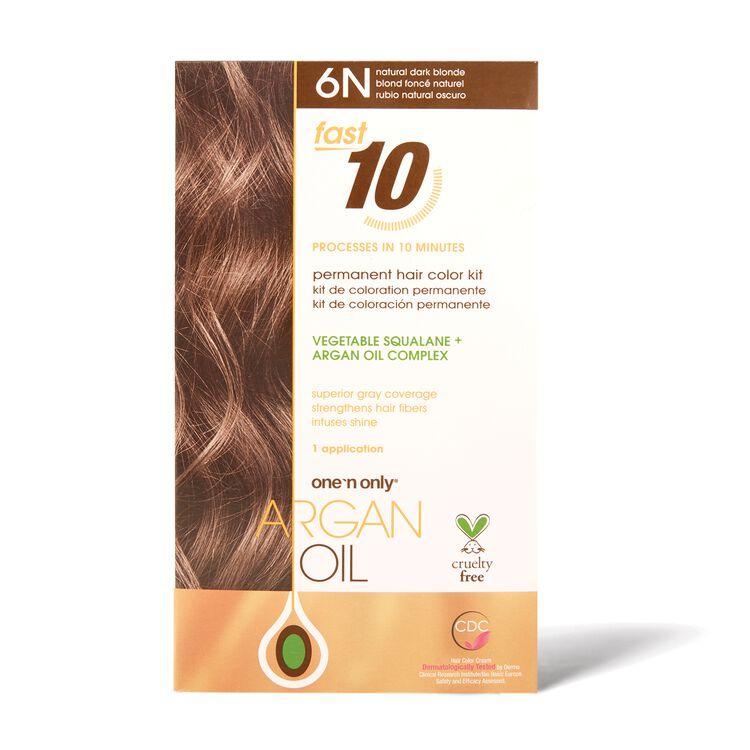Fast 10 Permanent Hair Color Kit 6N Natural Dark Blonde