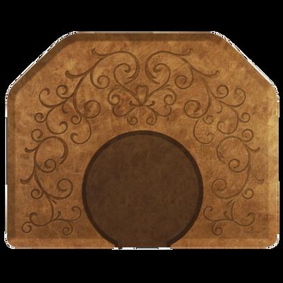 Bella Copper Leaf 4' x 5' Mat with Chair Depression