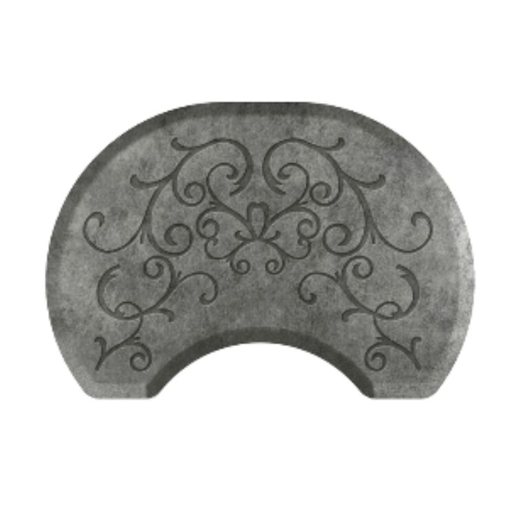 Bella Silver Leaf Round Mat with Chair Depression