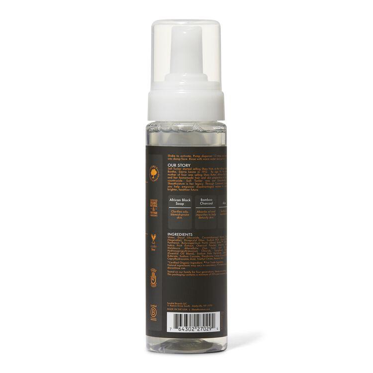 African Black Soap and Bamboo Charcoal Detoxifying Foaming Facial Wash