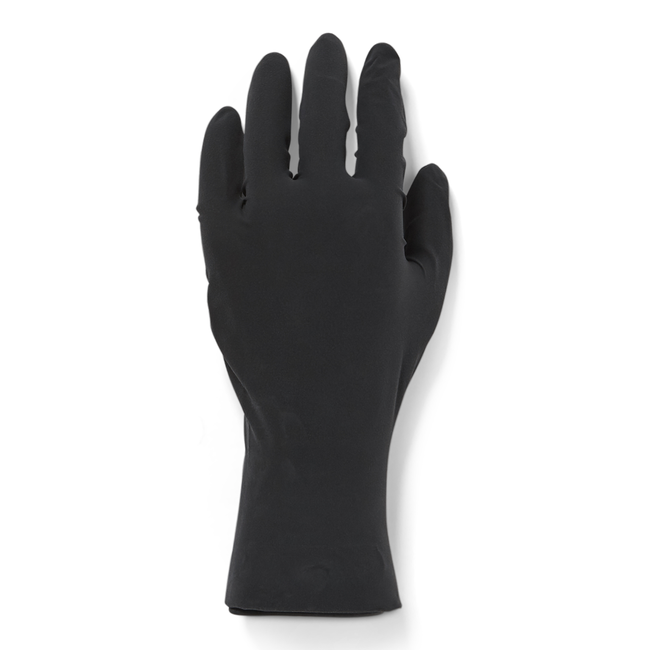 Reusable Black Medium Latex Gloves