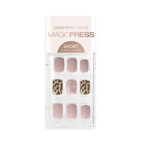 Magic Press on Nails Pink Leopard - Short
