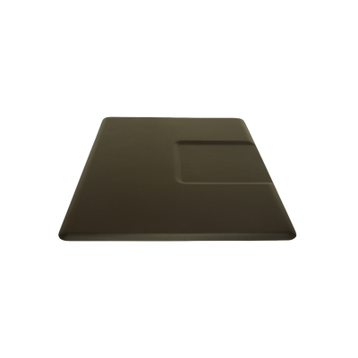 3550SS 5 X 3.5 Black Rectangle Mat With Chair Depression