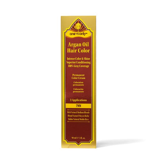 7NN Rich Natural Medium Blonde Argan Oil Permanent Hair Color