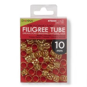 Gold Filigree 10MM Tube