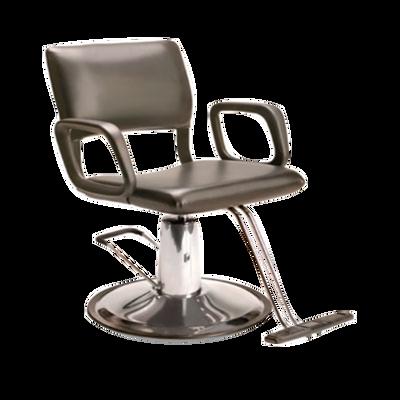 AR-HC-01-B  Steel Frame Hydraulic Black Chair with Round Base