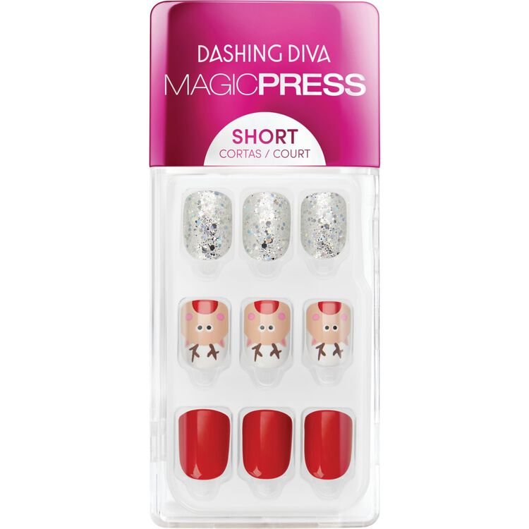 Red Nose Rudolph Press On Nail Kit