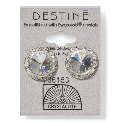 Destine Clear RS Rivoli Crystal Earring