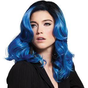 Blue Waves Fantasy Wig