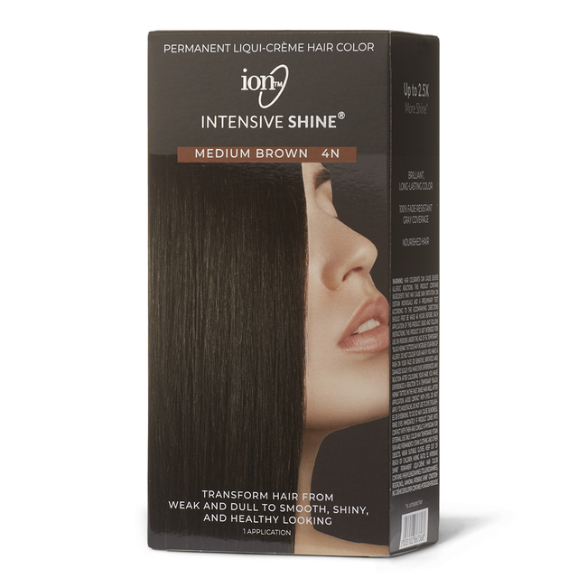 Intensive Shine Hair Color Kit Medium Brown 4N
