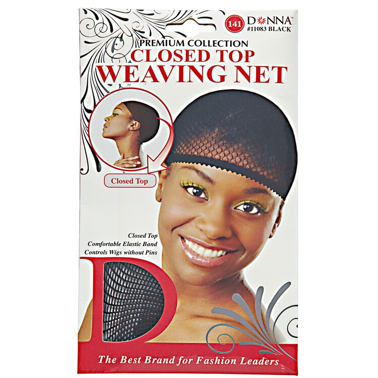 Donna Closed Top Black Weaving Net