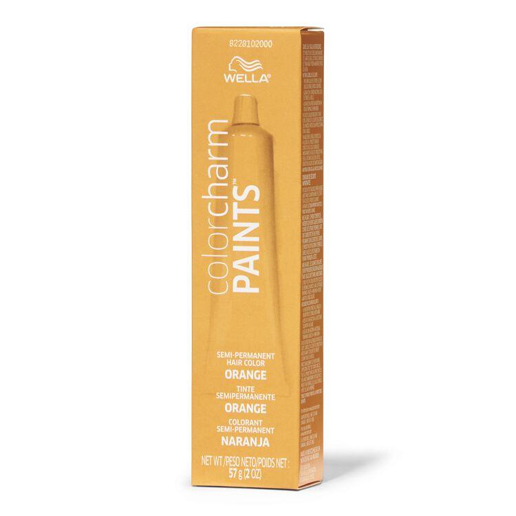 Paints Orange Semi Permanent Hair Color