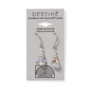 Destine Clear Dangle Earrings