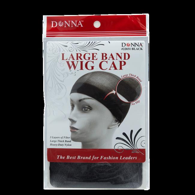 Black Large Band Wig Cap