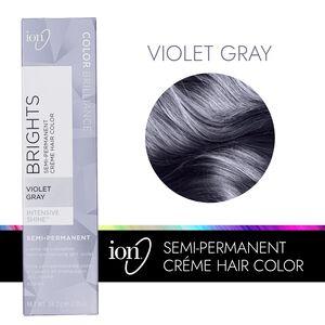 Violet Gray Semi Permanent Hair Color