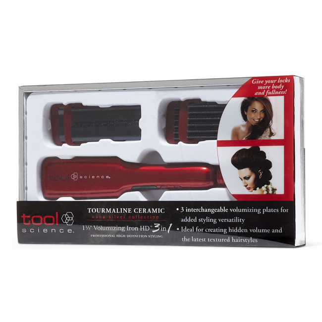 Nano Silver Tourmaline Ceramic HD 3 in 1 Volumizing Iron